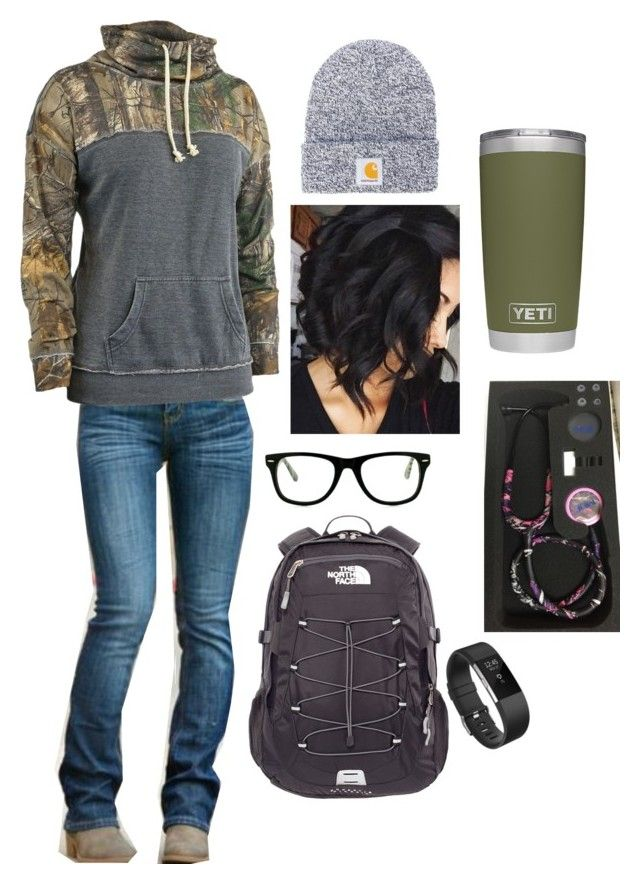 """2•8•18"" by future-rn-harley ❤ liked on Polyvore featuring Realtree, Carha..."