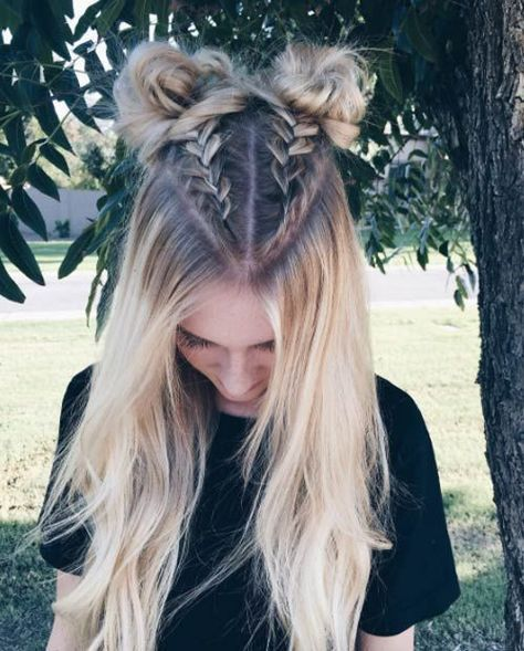 Half-up boxer braid buns - Tap the Link Now to Shop Hair and Beauty Products Onl...
