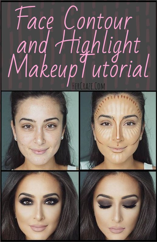 Complete Face Contour and Highlight Makeup Tutorial