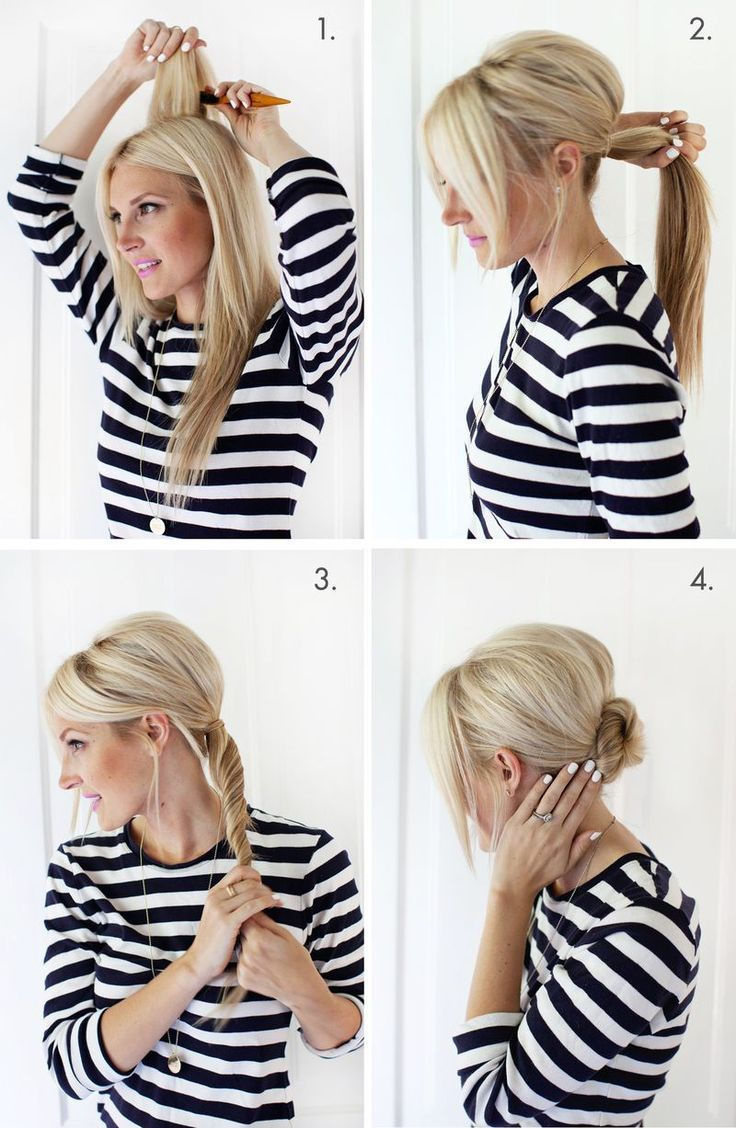 Side & Back Chignon Hair Styling Ideas with Step by Step Pictures #pictures ...