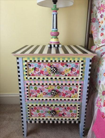 New Funky Painted Furniture Mackenzie Childs Girl Rooms Ideas