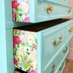 I'm going to show you a quick and easy way to apply paper to a dresser for a...