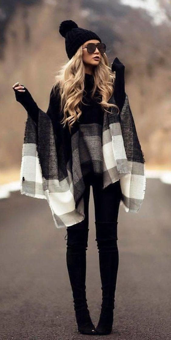 Winter outfit Poncho