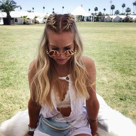 33 Cool Braids Festival Hairstyles #braids #festival #dresses