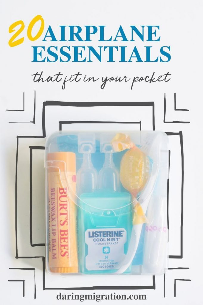 This mini flight essentials kit fits in your pocket! Fill your kit with any of t...