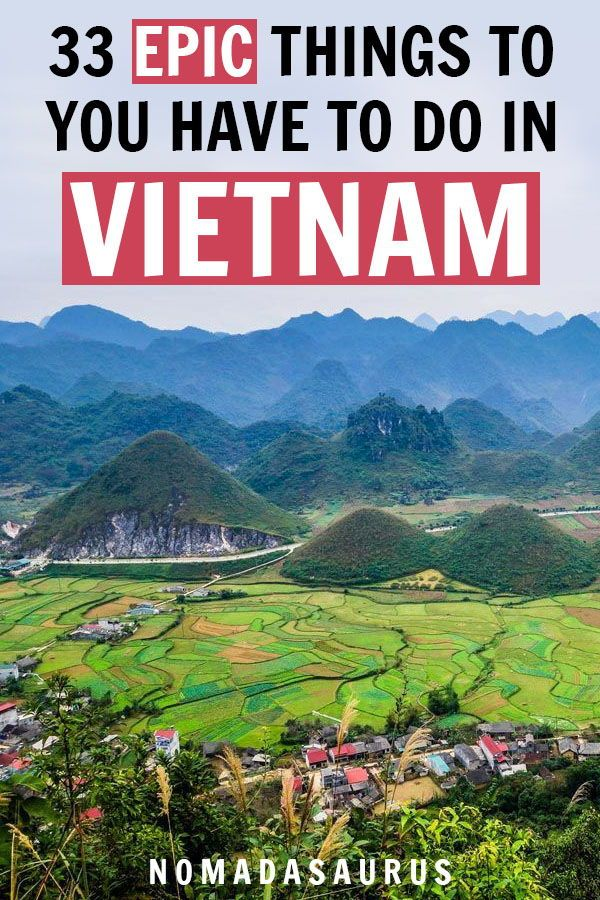 Here are 33 EPIC things you do NOT want to miss in Vietnam! From Ho Chi Minh Cit...