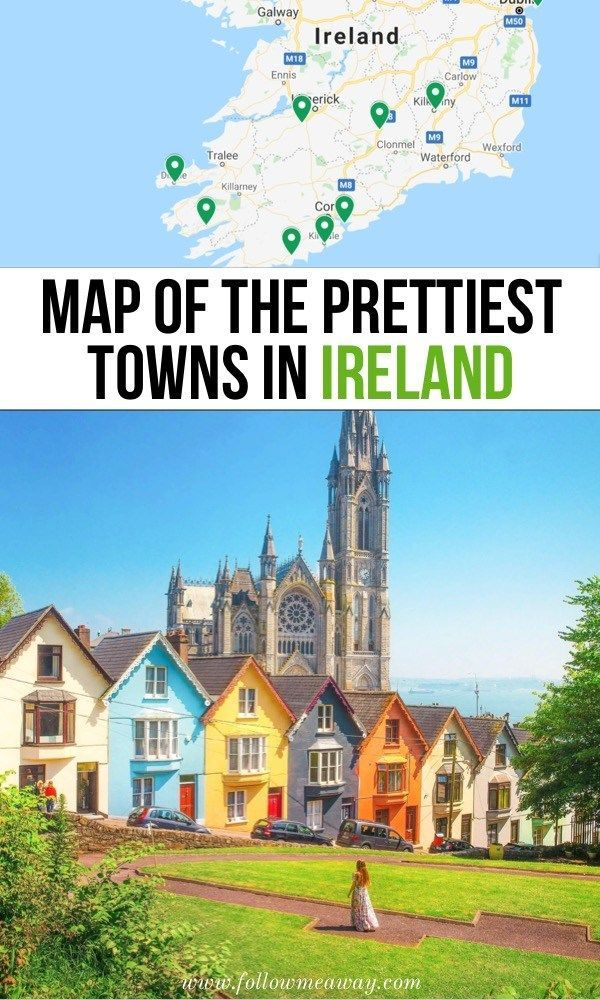 Map of the most beautiful cities in Ireland | 10 most beautiful small towns in Ireland Kart ...