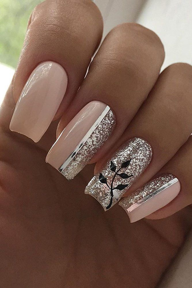 The Best Wedding Nails 2019 Trends ❤ wedding nails 2019 pink design with flowe...