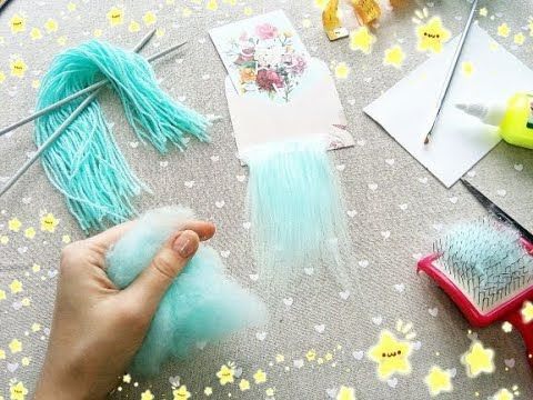How to make hair for a doll wig? So, you will need: yarn - 100% acrylic; slicker...