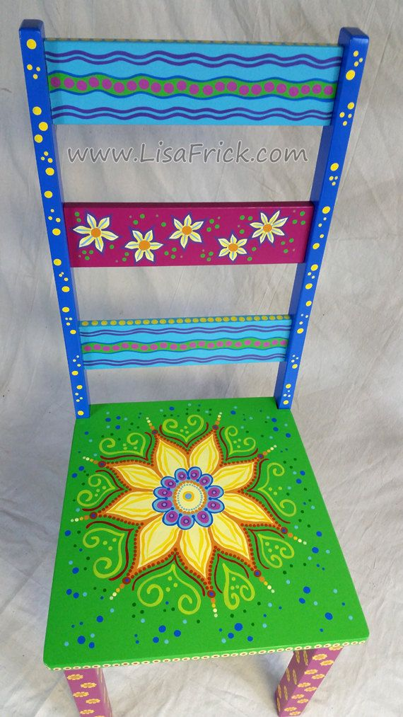 SOLD sample of CUSTOM WORK-Custom Painted Side Chairs