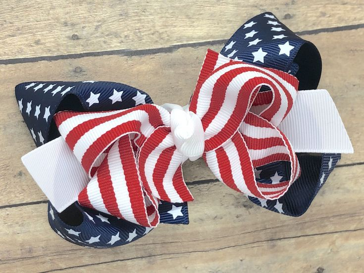 Excited to share this item from my #etsy shop: Fourth of July hair bow - hair bo...