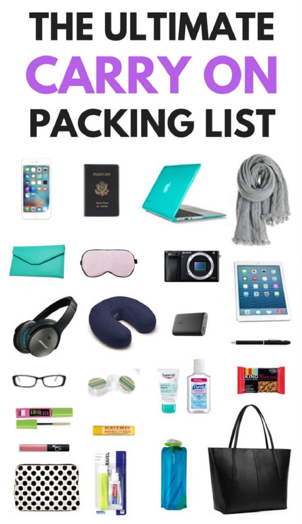 The ultimate carry-on packing list for every trip! *****************************...