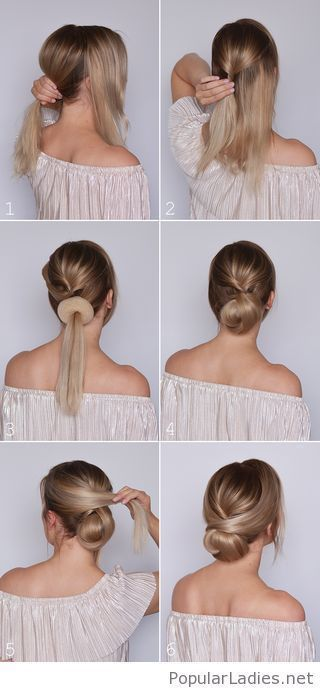 Great tutorial for low bun #brotchen #lower #tolles #tutorial