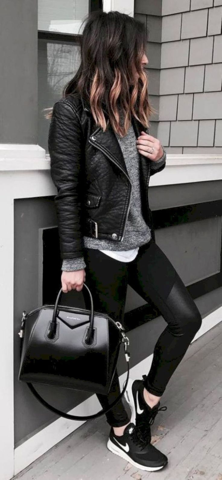 51 Stunning Casual Fall Outfit with Sneakers #Outfit #Women Outfit #Women Outfit