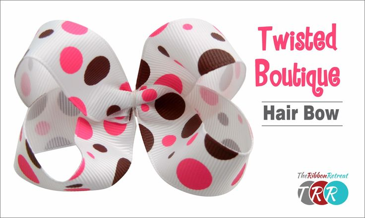 Learn how to make the popular Twisted Boutique hair bow. Don't forget to check o...