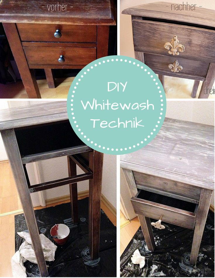 Shabby Chic DIY Guide to Vintage Furniture Using the Whitewash Technique - How To ...