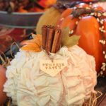 Oh my gosh, I love this shabby chic pumpkin and it looks so easy to make! #TheHo...