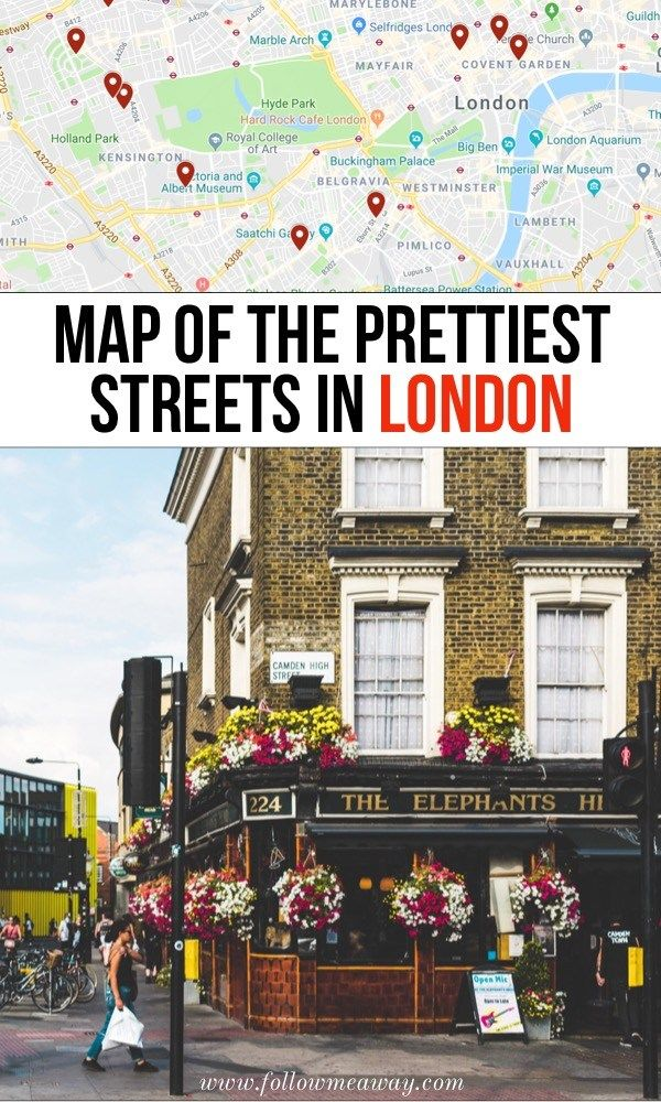 Map Of The Prettiest Streets In London | 10 Prettiest Streets In London | Best s...