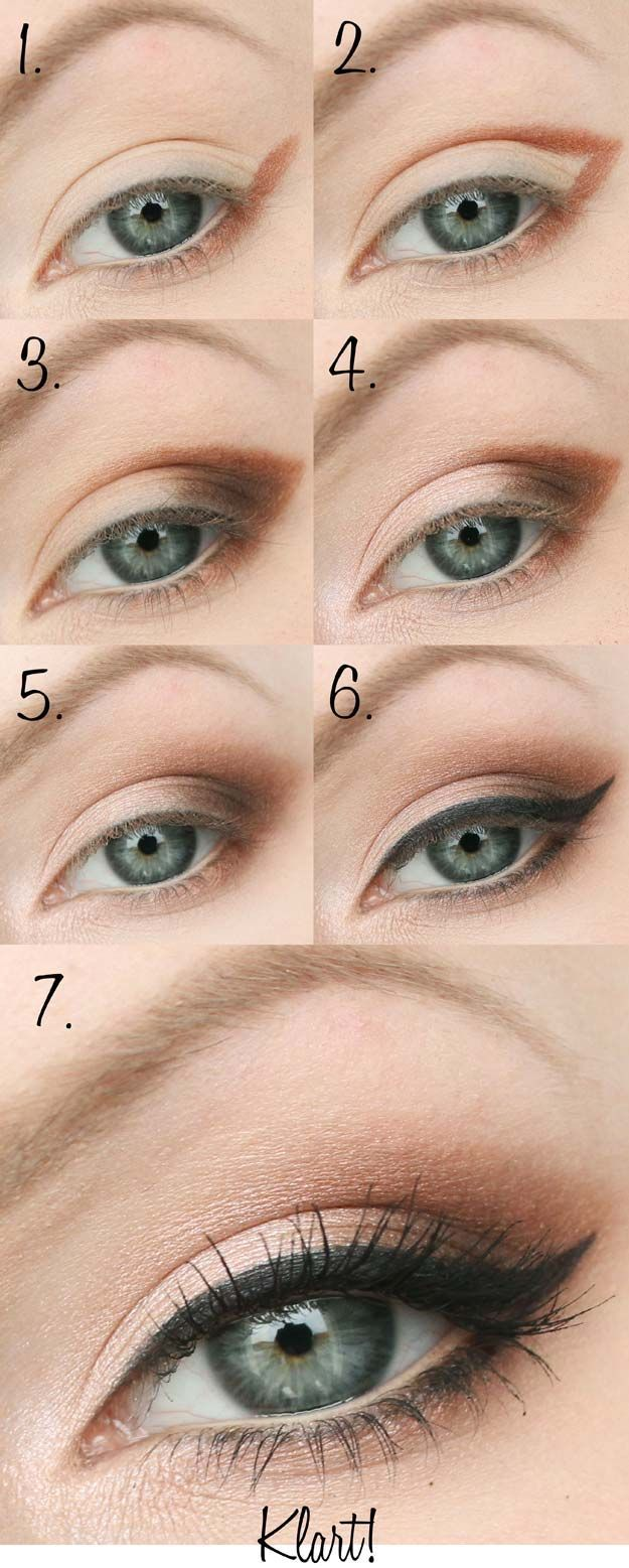 Best Eyeshadow Tutorials - Almond-shaped Eyes - Easy Step by Step