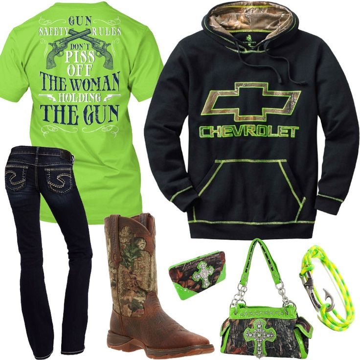 Gun Safety Rules Black Chevy Hoodie Outfit - Real Country Ladies