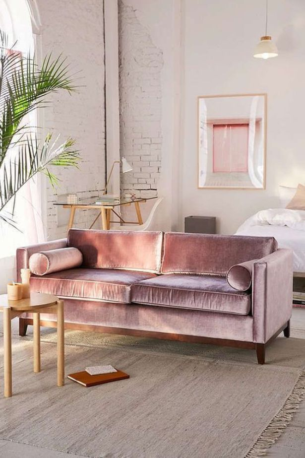 Velvet, the interior design trend! Gorgeous velvet furniture. #velvetchair #velv...