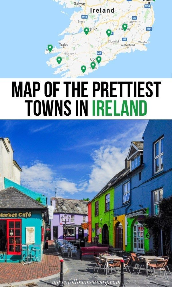 10 Prettiest Small Towns In Ireland Map To Find Them | map of the prettiest town...