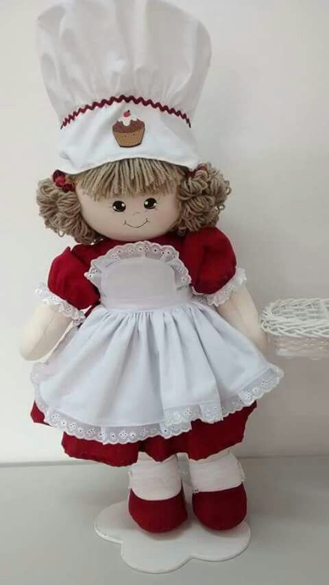 Cloth Doll Line Made of cotton fabric and silicone fiber padding ...