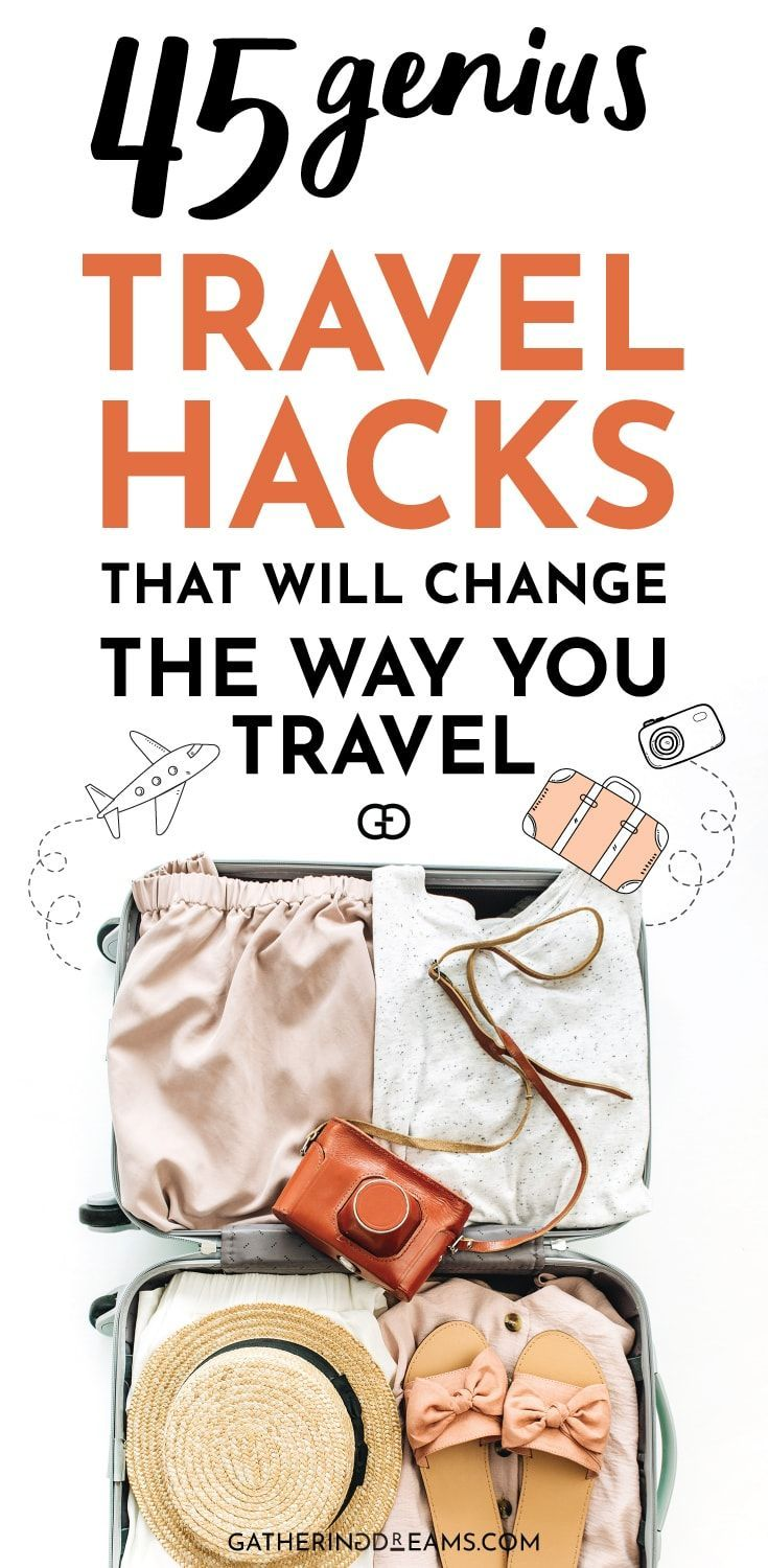 45 epic travel hacks for a stress-free holiday. These travel tips will save you ...