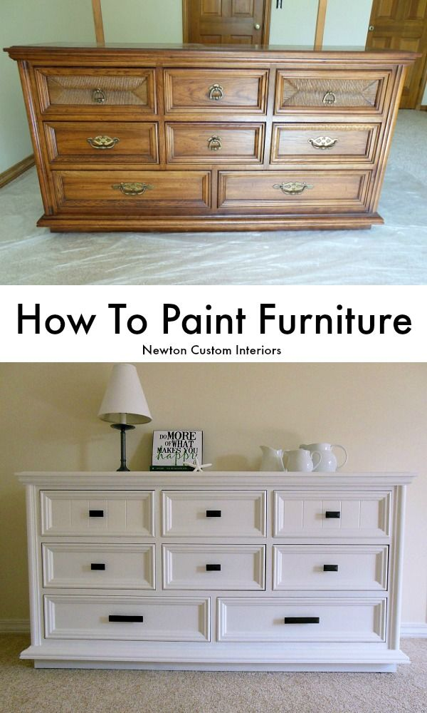 How To Paint Furniture - Learn how to paint furniture with this step-by-step tut...