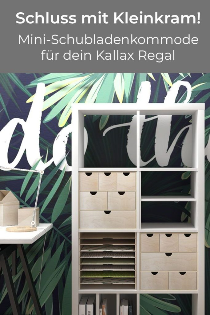 With the mini chest of drawers for the Kallax shelf, you bring order to your Kleimkramsam ...