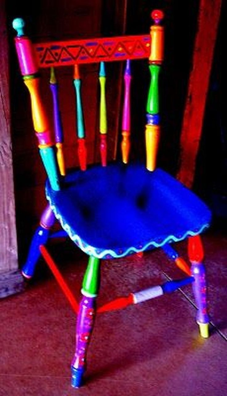 40 Top Diy Painted Chair Designs Ideas Try #paintedfurniture #ideas