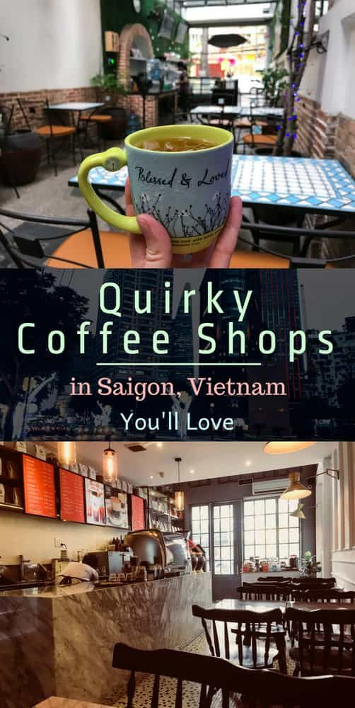 Cool coffee shops and cafes in Saigon (Ho Chi Minh City,) Vietnam. Travel Southe...