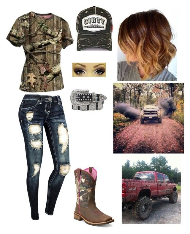"""""""A little mud never hurt anybody"""" by country-princess-7 ❤ liked on Polyvore fe..."""