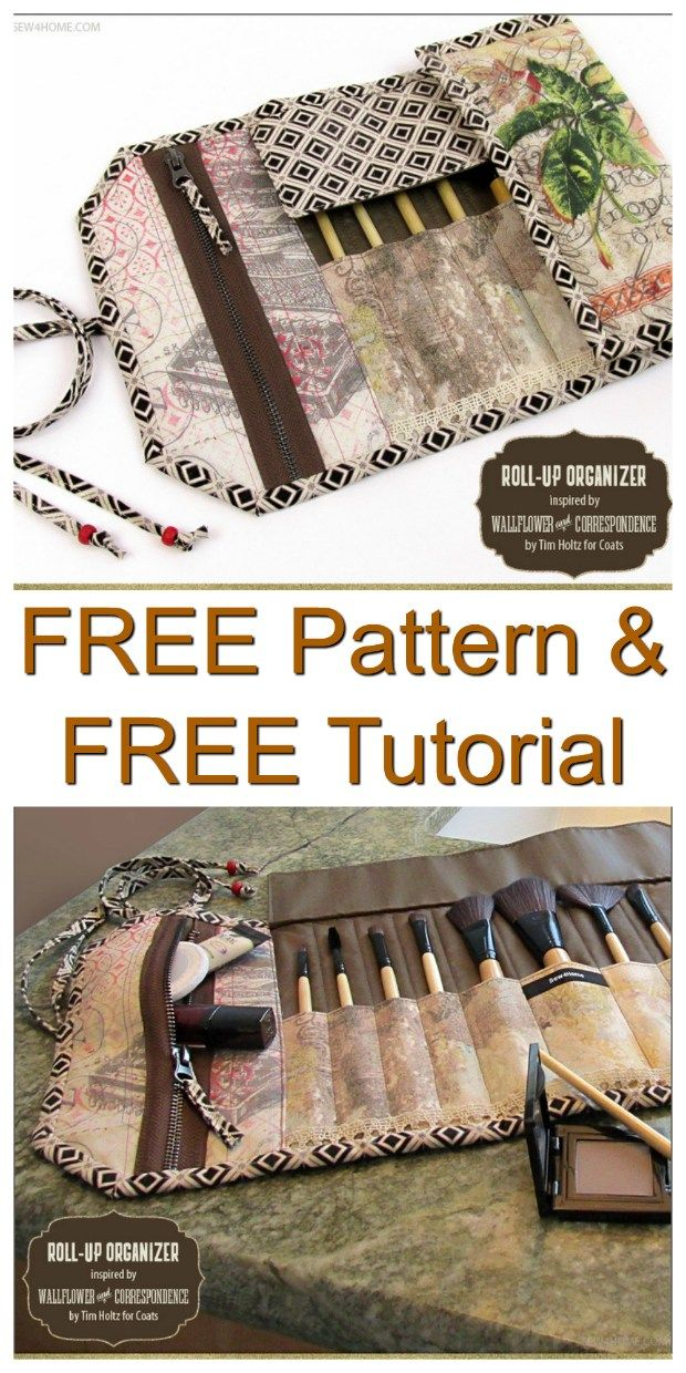 This is another FREE pattern brought to you by Sew Modern Bags. The Roll-up Brus...