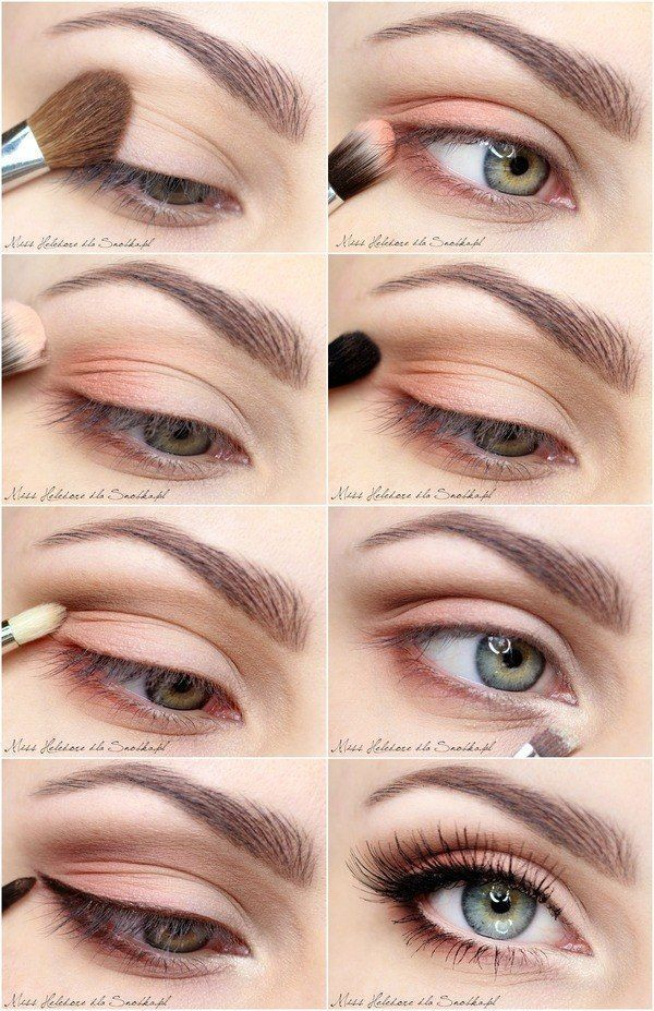 Makeup Tips & Tutorials: Daily Look with a Touch of Color Eye Make Up Tuto ...