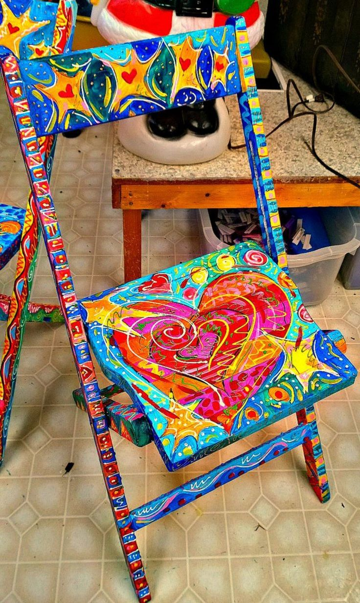 Whimsical painted furniture and Painted Chair – DECOOR