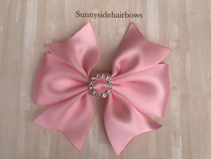Pink Boutique hairbow, Pink Hair bow Clip, Pink bows for girls, Pink Stacked Bow...