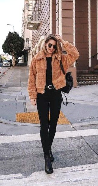 Best 46 Casual Chic Winter Outfits For Women  #CasualChicWinter #CasualOutfits #...