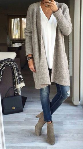 Great casual style. Need: a long-sleeved #like #big cardigan ...