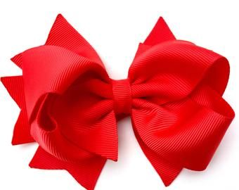 Items similar to Girls hair bows Boutique hair bows hair bows, White, Brown, Pin...