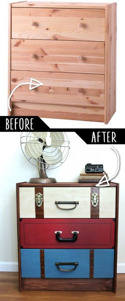 DIY Furniture Makeovers - Renovated furniture and cool painted furniture ideas ... #bem ...