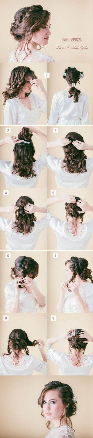 Loose Braided Hair Tutorial | Step by Step Hair Updo by Makeup T ...