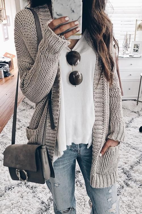 Gray, Simple Pockets Long Sleeves Going Out Casual Cardigan, #arms ...