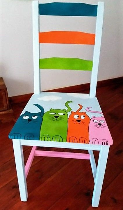 Decorations paintings on chairs ideas recycle chair decorate chair. # Furniture