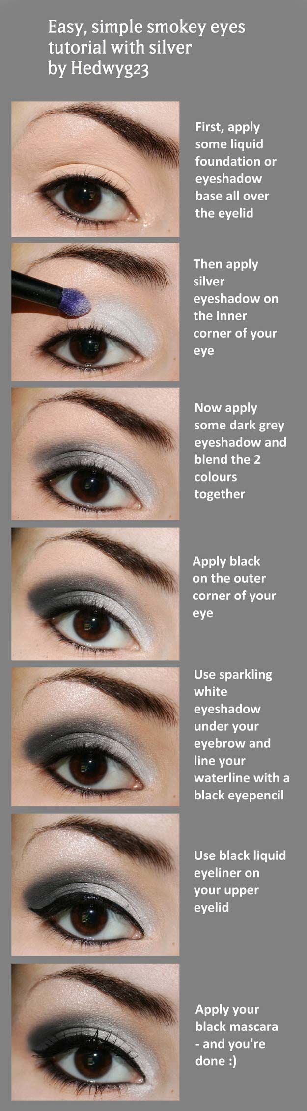 29 Step by Step Smokey Eye Tutorials #step #smokey #tutorials