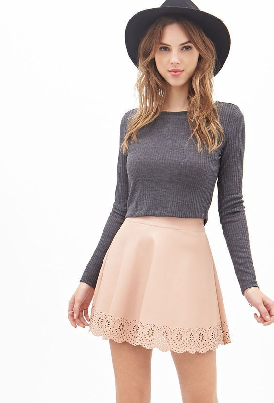 Top 12 Style Ideas to Wear Skater Skirt: Fashion Guide   #skater #skirt #outfit ...