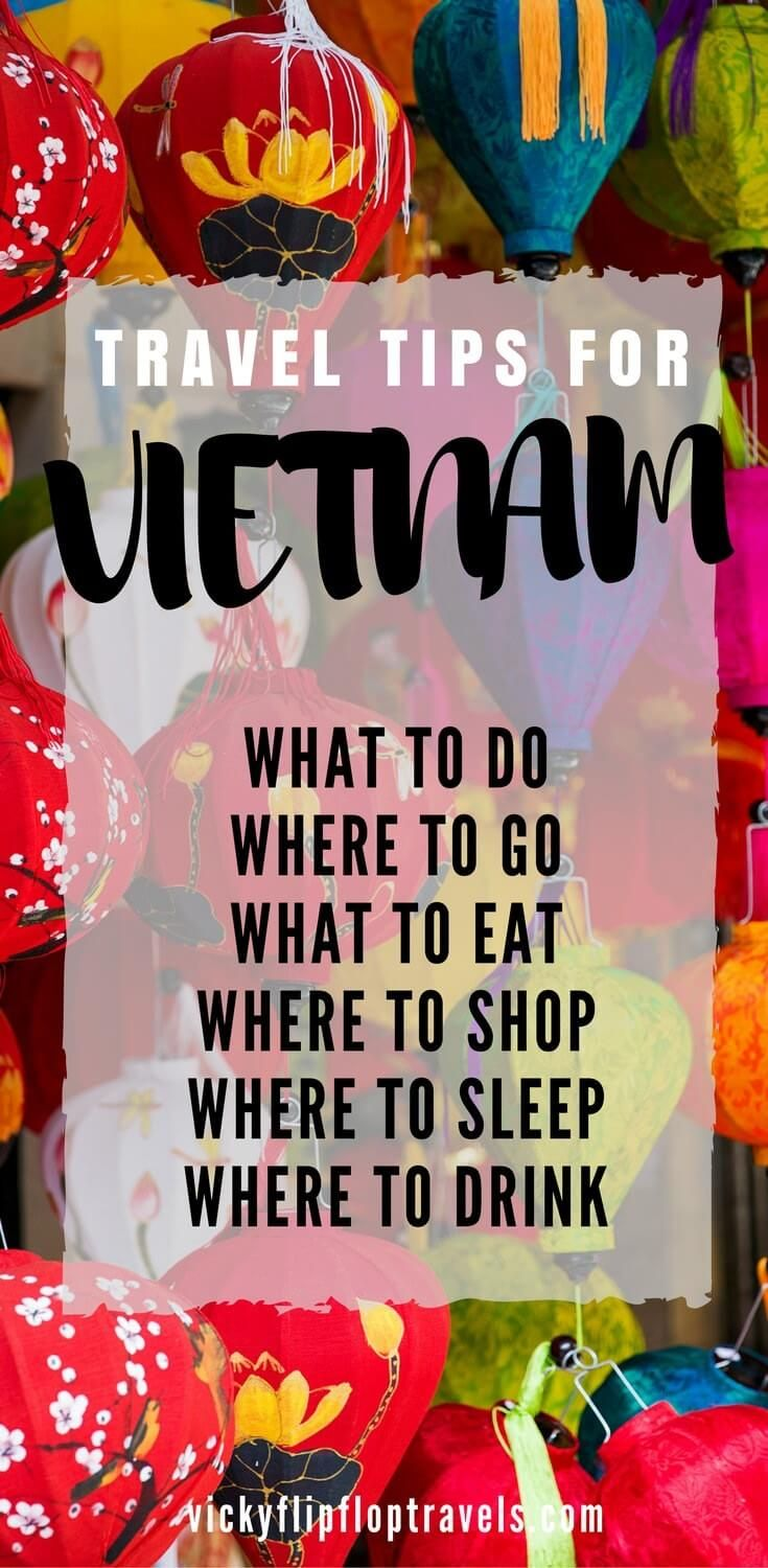 Vietnam Travel Tips for anyone going to Vietnam any time soon. And, this post li...