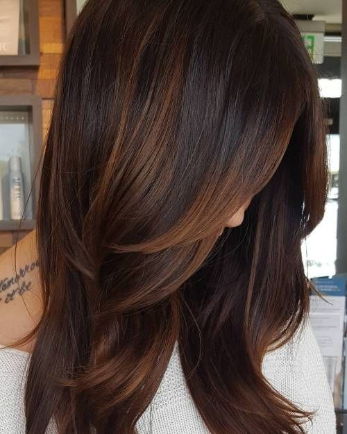 60 hairstyles with dark brown hair with highlights # dark brown hairstyles #high ...