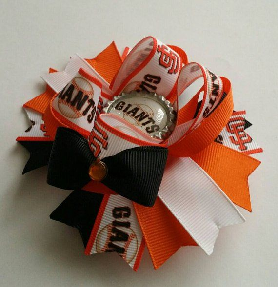San Francisco Giants Baseball Stacked Boutique Hair Bow, SF Giants bow, Giants b...