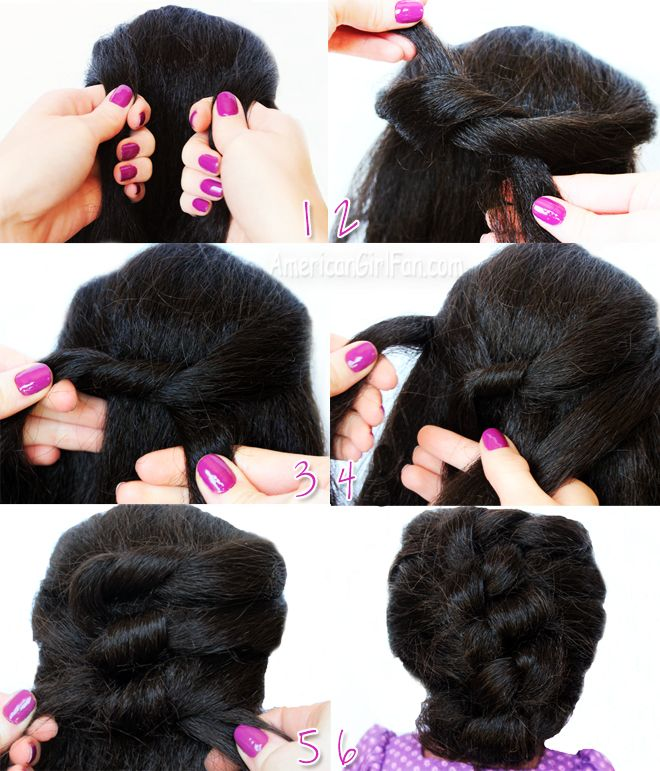 American Girl Doll Hairstyle Easy Knotted Updo